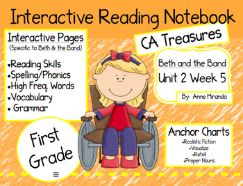 CA Treasures • Beth and the Band • Interactive Notebook • Unit 2 Week 5