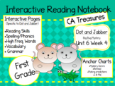 CA Treasures • Dot and Jabber/ Bug Mystery •Interactive Notebook • Unit 6 Week 4