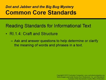 CA Treasures Dot and Jabber Grade 1 Unit 6 (Common Core Standards)