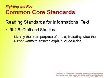 CA Treasures Fighting the Fire Grade 2 Unit 2 (Common Core Standards)