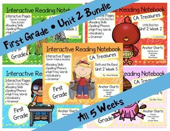 CA Treasures • Unit 2 • First Grade • Interactive Notebook • Bundle