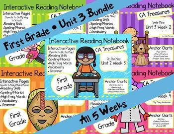 CA Treasures • Unit 3 • First Grade • Interactive Notebook • Bundle