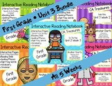 CA Treasures • Unit 3 • First Grade • Interactive Notebook