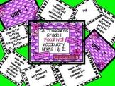 CA Treasures Grade 1 ....Focal Wall Vocab Charts... Units 1&2