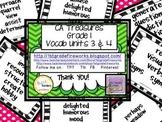 CA Treasures Grade 1 ....Focal Wall Vocab Charts... Units 3 & 4