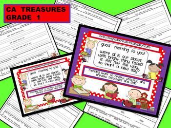 CA Treasures Grade 1 ....Morning Work...Unit 3 Weeks 1-5