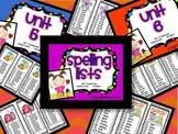 CA Treasures Grade 1 ....Spelling Lists... Units  5 & 6