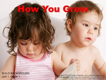 CA Treasures How You Grew Grade 1 Unit 1 (Common Core Standards)