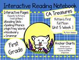 CA Treasures • Kitten's First Full Moon• Interactive Notebook • Unit 5 Week 1