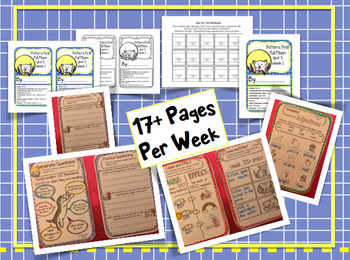 CA Treasures • Kitten's First Full Moon• Interactive Notebook • Unit 5 Week 1