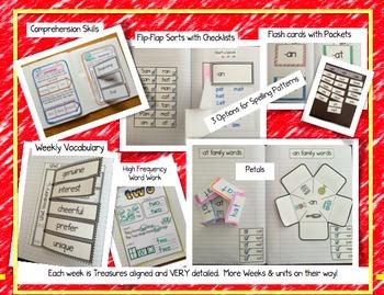 CA Treasures • Little Red Hen • Interactive Notebook • Unit 2 Week 2