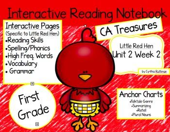 CA Treasures • Little Red Hen • Interactive Notebook • Uni