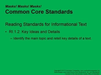 CA Treasures Masks! Masks! Masks! Grade 1 Unit 3 (Common Core Standards)