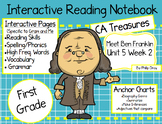 CA Treasures • Meet Ben Franklin• Interactive Notebook • U