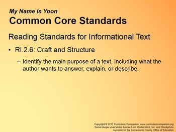 CA Treasures My Name is Yoon Grade 2 Unit 1 (Common Core Standards)