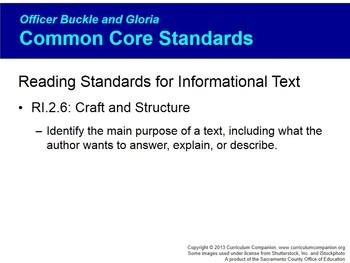 CA Treasures Officer Buckle and Gloria Grade 2 Unit 4 (Common Core Standards)