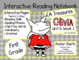 CA Treasures • Olivia • Interactive Notebook • Unit 6 Week 1