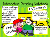CA Treasures • On My Way to School• Interactive Notebook •