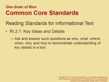 CA Treasures One Grain of Rice Grade 2 Unit 2 (Common Core Standards)