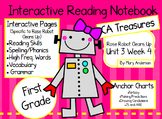 CA Treasures • Rose Robot Cleans Up• Interactive Notebook • Unit 3 Week 4