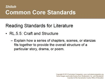 CA Treasures Shiloh Grade 5 Unit 1 (Common Core Aligned)