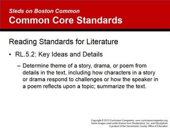 CA Treasures Sleds on Boston Common Grade 5 Unit 1 (Common Core Aligned)