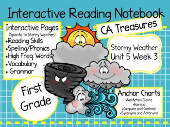CA Treasures • Stormy Weather • Interactive Notebook • Unit 5 Week 3