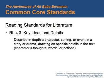 CA Treasures The Adventures of Ali Baba Bernstein Grade 4 Unit 1 (Common Core)