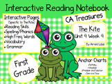 CA Treasures • The Kite• Interactive Notebook • Unit 4 Week 4