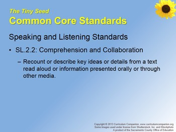 CA Treasures The Tiny Seed Grade 2 Unit 5 (Common Core Standards)
