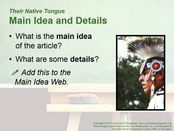 CA Treasures Their Native Tongue Grade 2 Unit 1 (Common Core Standards)