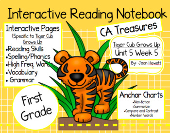 CA Treasures • Tiger Cub Grows Up • Interactive Notebook • Unit 5 Week 5