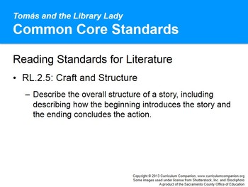 CA Treasures Tomás and the Library Lady Grade 2 Unit 2 (Common Core Standards)