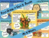 CA Treasures • Unit 5 • First Grade • Interactive Notebook