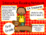 CA Treasures • Whistle for Willie • Interactive Notebook • Unit 6 Week 2