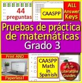 3rd Grade CAASPP Math in Spanish: Pruebas de práctica de matemáticas Grado 3