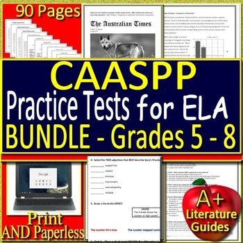 picture regarding Caaspp Practice Tests Printable named CAASPP Attempt Prep - ELA California Prepare Assessments - Print and Paperless