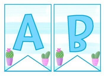 CACTUS Banner/Bunting!  Create Your Own! Thousands of Options!