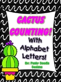 CACTUS COUNTING-with alphabet letters!