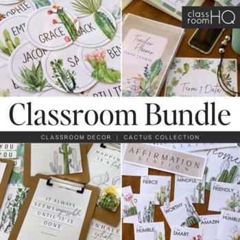 CACTUS Classroom Decor - BUNDLE