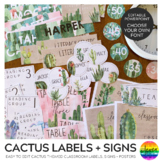 CACTUS Classroom Labels and Signs Pack