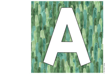 CACTUS Editable Lettering Pack