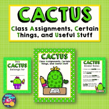 CACTUS Homework Folder