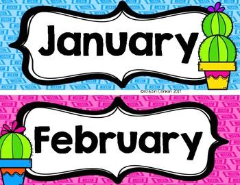 CACTUS MONTHS