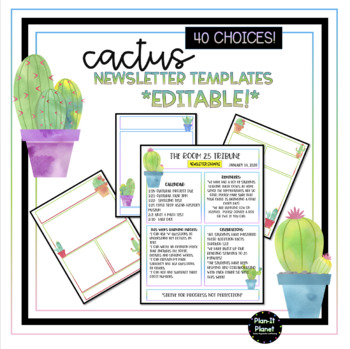 CACTUS Newsletter Templates!  40 Choices!