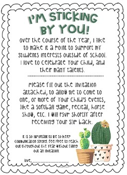 CACTUS & SUCCULENT Themed Outreach Pack/Classroom Community Building