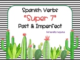 """CACTUS THEMED SPANISH """"SUPER 7"""" VERBS PAST/ IMPERFECT TENSE"""