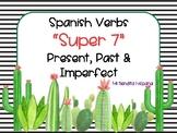"CACTUS THEMED SPANISH ""SUPER 7"" VERBS PRESENT, PAST & IMPERFECT"