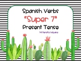 "CACTUS THEMED SPANISH ""SUPER 7"" VERBS PRESENT TENSE"