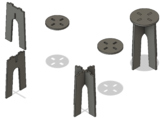 CAD-CAM-CNC Project,  Flat Pack - Stool - Plant Stand - 24 in